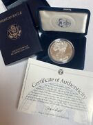 1997-p Silver 1oz. American Eagle 1silver Proof Us Eagle Coin With Box And Cert