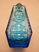 Wheaton Poison Bottle Electric Blue Skull And Crossbones R.i.p. Bottle And Cork W71