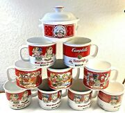Vintage Campbell's Soup Mugs Mixed Lot Of 10 With 5 Different Designs