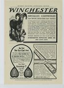 1906 Winchester Repeating Arms Co Ad Metallic Cartridges For Rifles - New Haven