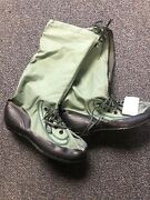 Andldquovery Rareandrdquo Size Xl Military Issue Extreme Cold Weather Green Canvas Mukluks