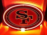 New San Francisco 49ers 3d Carved Acrylic Neon Light Sign 17x14 Beer Lamp Bar
