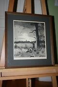 Aiden Lassell Ripley Dove Shoot At Down Hand Signed Etching.