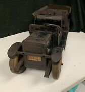 Vintage Rare 1930andrsquos J.chein Hercules Pressed Steel Dump Truck Original Awesome