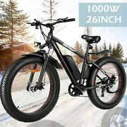 Electric Bike Ebike Shimano 7 Speed Mountain Bicycle Lithium Battery Fat-tyres