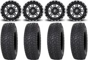 Fuel Lethal Black 15 Wheels 35 X Comp At Tires Can-am Renegade Outlander