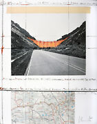 Christo Valley Curtain Project For Colorado. Signed Lithograph 1991.andnbsp