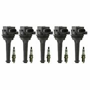 Bosch 5 Ignition Coils And 5 Platinum Spark Plugs Kit For Volvo C70 S60 S70 V70 L5