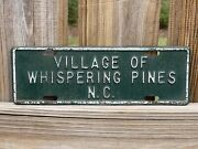 Village Of Whispering Pines North Carolina License Plate Nc City Plate
