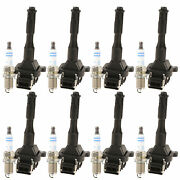 Bosch 8 Ignition Coils And 8 Double Platinum Spark Plugs Kit For Bmw 4.4 V8 M62