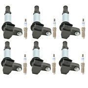 Bosch 6 Ignition Coils And 6 Platinum Spark Plugs Kit For Cadillac 2.8 V6 Rwd