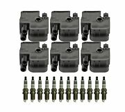 Bosch 6 Ignition Coil And 12 Double Platinum Spark Plugs Kit For 3.2l V6 W203 R170