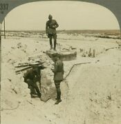 German Pill Box In The Blanc Mont Sector, Champagne - Ww1 Stereoview