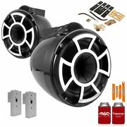 Wet Sounds Rev8b-x 8 Black Fixed Tower Speakers2019+ Fcta Adapters