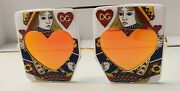 Nwt Dolce And Gabbana Runway Queen Of Hearts Playing Cards Gambler Sunglasses Rare