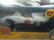 Speed Racer Mach 5 Die Cast Car 118 Scale White New In Box 35 Years Of Speed