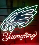 New Yuengling Philadelphia Eagles Neon Light Sign 32x24 Beer Cave Gift Lamp