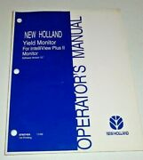 New Holland Yield Monitor For Intelliview Plus Ii Version 12 Operators Manual