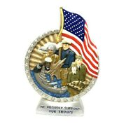Jim Beam Iajbbsc We Support Our Troops Patriotic Empty Decanter 4th Of July