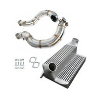 Turbo Catless Downpipe Ss304+7.5 Stepped Intercooler For Bmw N54 135i 335i 3.0l