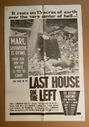 Last House On The Left 1972 27x41 1-sheet Movie Poster Wes Craven💀 Nasty Horror