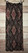 Maurices Womens Maxi Skirt Size Small Multi Colored Double Slit Lbb76