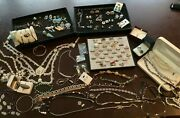 Huge 925 Marcasite Native American Sterling Silver Jewelry Lot