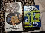 Waterworks Card Game. Parker Brothers Lot Of 2 Editions