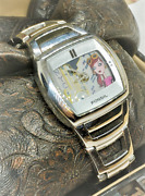 Fossil City Girl Big Tic Animated Nyc Bg1029 Tonneau Stainless Silver Face Watch