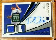 Immaculate Triple Tag/patch/auto - Dane Dunning Rangers - 7/10