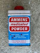 Antique Vintage Tin Can Bristol Myers Ammens Medicated Powder