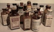 Lot Of 20 Antique Glass Medicine Bottles With Intact Labels      Tr01