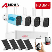 Solar And Battery Powered Outdoor Security Camera System Wifi Wireless Home Audio