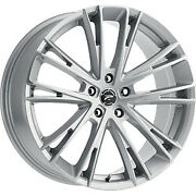 20x8.5 Platinum 458s Prophecy Gloss Silver With Clear Coat Wheel 5x4.5 40mm