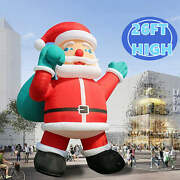 2021 Giant 26ft Inflatable Santa Claus With Blower Christmas Decorations Outdoor