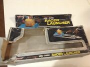 Antique Toy Model Car Racer Launcher Light And Sound Can Use Hot Wheels Cars