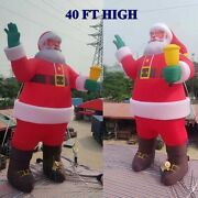 40ft Giant Amazing Santa Inflatable Outdoor Father Christmas Old Man Santa Claus