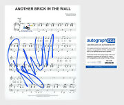 Roger Waters Autograph Signed Sheet Music Pink Floyd Another Brick In The Acoa