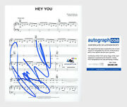 Roger Waters Autograph Signed Sheet Music 8x10 Photo Pink Floyd Hey You Acoa