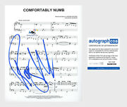 Roger Waters Autograph Signed Sheet Music Pink Floyd Comfortably Numb Acoa
