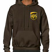 Ups United Parcel Service Hoodie Brown/yellow With Ups Logo---new And Unworn---
