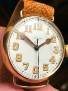 1913 Original Longines Military Wwi Cal12.91 Solid Gold Sweep Seconds Unrestored