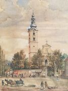 Watercolor Drawing On Paper From 1890 Signed Hans P ...