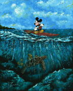 Disney Paintings Mickey Mouse/mickeyand039s Summer Limited To 95 Copies Canvas Zikre