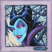 Disney Paintings Maleficent/distorted Evil Limited To 50 Copies Canvas Zikre
