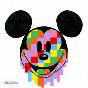 Disney Paintings Mickey Mouse/pixel Drip Limited To 195 Copies Canvas Zikre