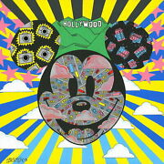 Disney Paintings Mickey Mouse/paparazzi Gridlock Limited To 195 Copies Canvas
