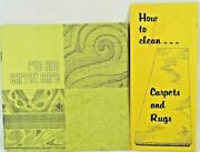 Special Vintage Collectible-rug And Carpet Care Plus How To Clean Carpets And Rugs