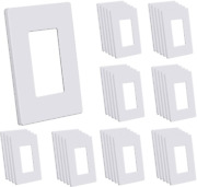 Cml Screwless Wall Plates, 40 Pack Decorator Light Switch Covers, 1-gang Decor