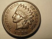 1889 Full Liberty Indian Head Cent Penny Free Shipping K173